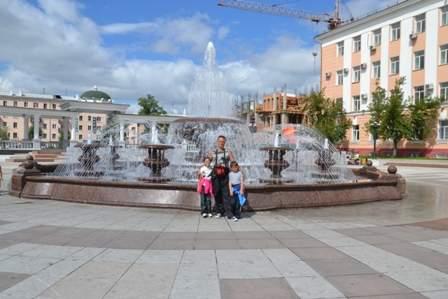 Музыкальный фонтан г.Улан-Удэ