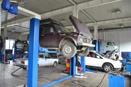 Моя Нива в Автосервисе АвтоВАЗа г.Улан-Удэ.
