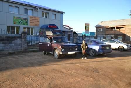 Гостиница, кафе и рынок в одном здании поселка Баргузин.