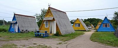 Соседние домики на базе