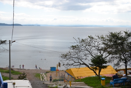 Вид на море с базы отдыха Волна.